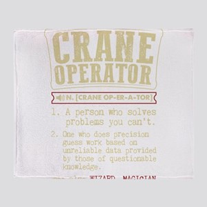 Crane Operator Funny Dictionary Term Throw Blanket