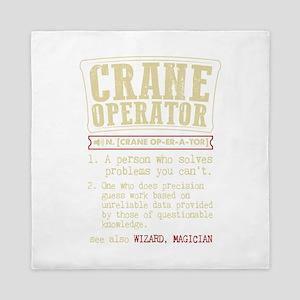 Crane Operator Funny Dictionary Term Queen Duvet