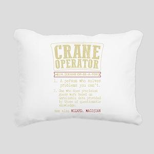 Crane Operator Funny Dic Rectangular Canvas Pillow