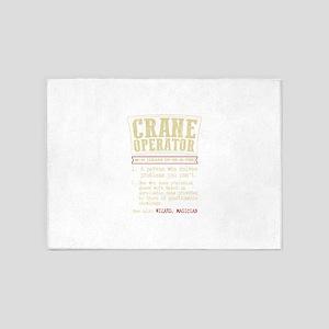 Crane Operator Funny Dictionary Ter 5'x7'Area Rug
