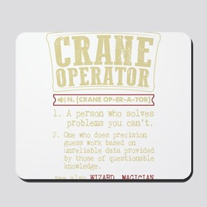 Crane Operator Funny Dictionary Term Mousepad
