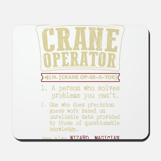 Crane Operator Funny Dictionary Term Mousepad
