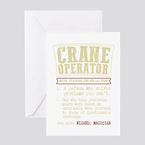 Crane Operator Funny Dictionary Ter Greeting Cards