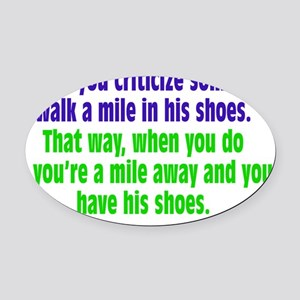 criticize_rect1 Oval Car Magnet