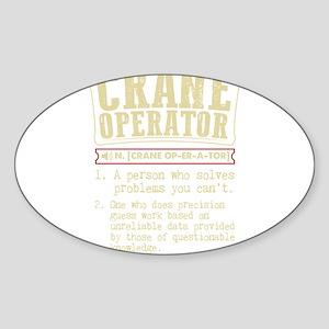 Crane Operator Funny Dictionary Term Sticker