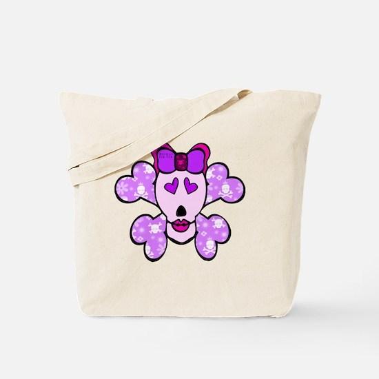 skull_crossbones_pink Tote Bag