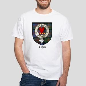 Logan Clan Crest Tartan White T-Shirt
