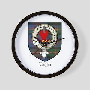 Logan Clan Crest Tartan Wall Clock