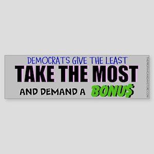 Democrats give the least Bumper Sticker