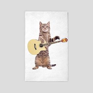 Cat Playing Guitar Area Rug