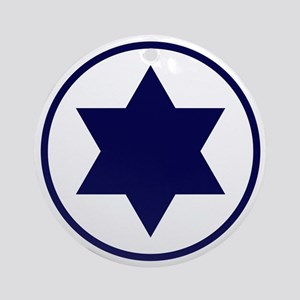 Israel Round Ornament