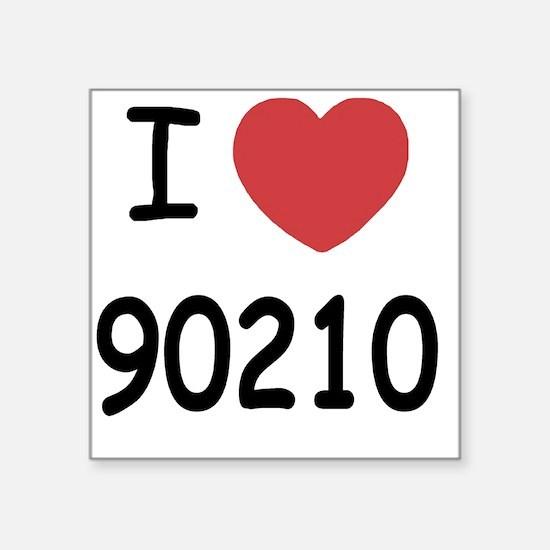 """90210 Square Sticker 3"""" x 3"""""""