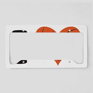 heart bball License Plate Holder