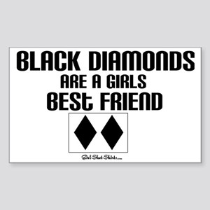 black diamond Sticker (Rectangle)