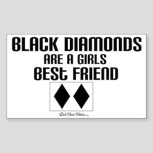 black diamond Sticker (Rectangle)