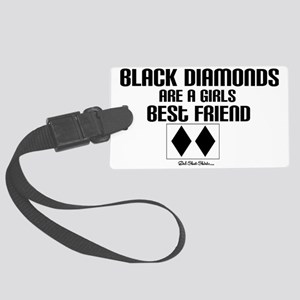 black diamond Large Luggage Tag