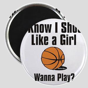 shoot like a girl Magnet