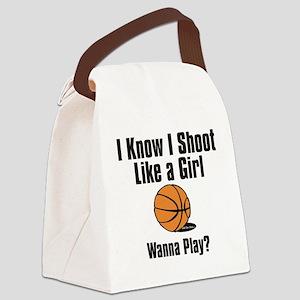 shoot like a girl Canvas Lunch Bag