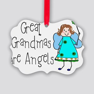 Great Grandmas Are Angels Picture Ornament