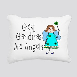Great Grandmas Are Angel Rectangular Canvas Pillow