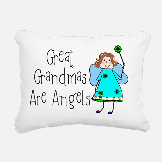 Great Grandmas Are Angel Rectangular Canvas Pillow