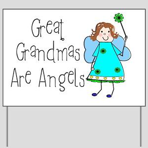 Great Grandmas Are Angels Yard Sign