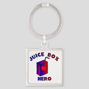 Juice Box Hero Square Keychain