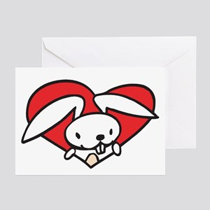 Bunny Valentine Greeting Cards (Pk of 10)