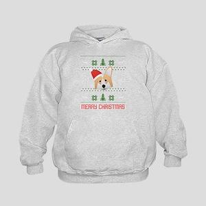 Corgi Santa Snow Christmas T-Shirt Sweatshirt