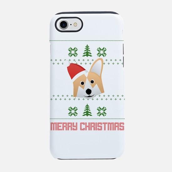 Corgi Santa Snow Christmas T-S iPhone 7 Tough Case