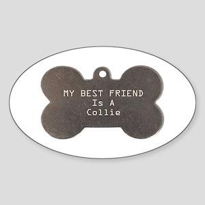 Friend Collie Oval Sticker