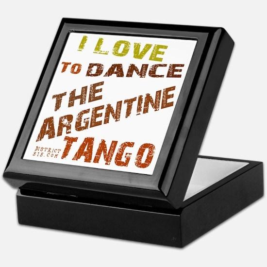 argentine_tango_love_to_dance_brown Keepsake Box