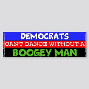 Democrats can't dance Bumper Sticker