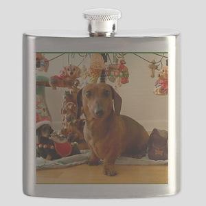 ChristmasDoxie1Mousepad Flask