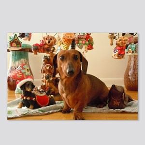ChristmasDoxie1Mousepad Postcards (Package of 8)