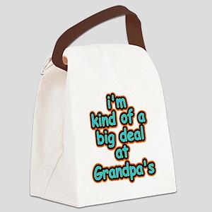 Big Deal At Grandpas Canvas Lunch Bag