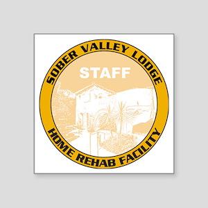 "sober valley lodge Square Sticker 3"" x 3"""