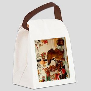 Christmas Dachshund (Ver. 2) Canvas Lunch Bag