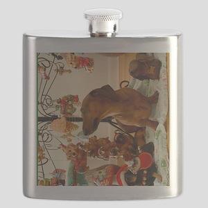 Christmas Dachshund (Ver. 2) Flask