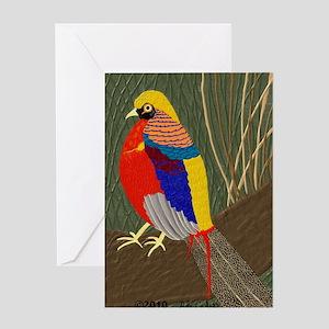 GoldenPheasantMousepad Greeting Card