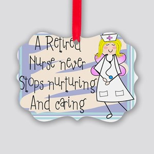 Retired Nurse Picture Ornament