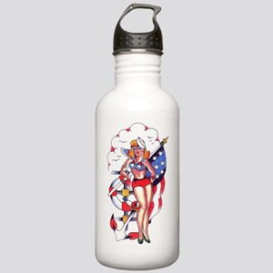 PATRIOTIC_SAILOR_GIRL_ Stainless Water Bottle 1.0L