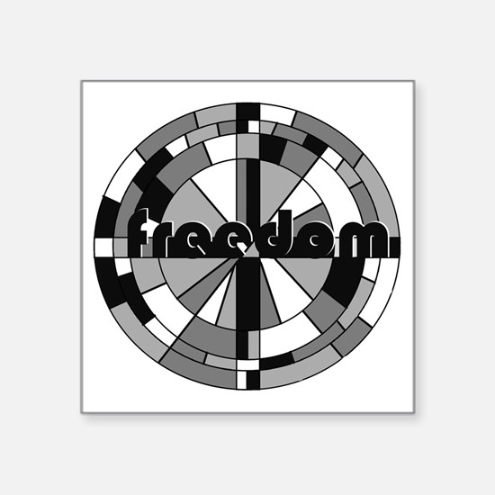 "freedom embraced Square Sticker 3"" x 3"""
