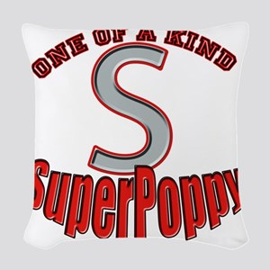 SuperPoppy Woven Throw Pillow