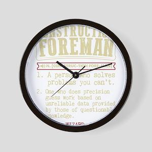 Construction Foreman Dictionary Term T- Wall Clock