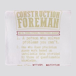 Construction Foreman Dictionary Term Throw Blanket