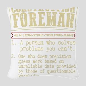 Construction Foreman Dictionar Woven Throw Pillow