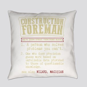 Construction Foreman Dictionary Te Everyday Pillow