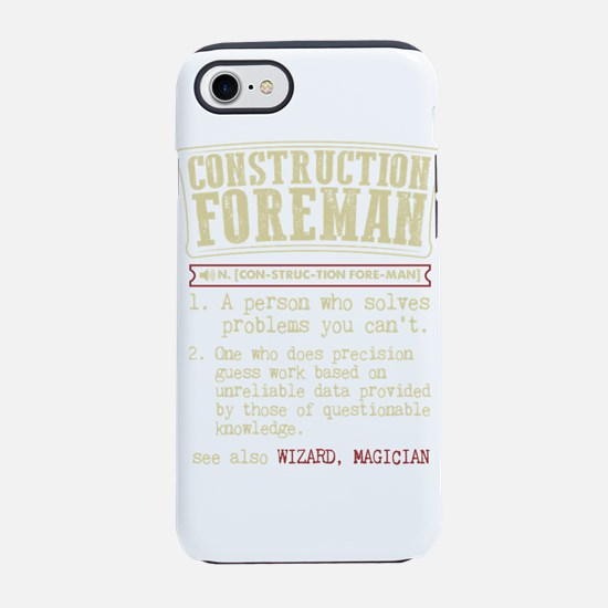 Construction Foreman Dictionar iPhone 7 Tough Case