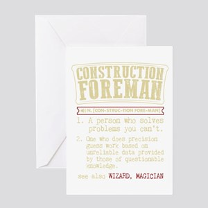 Construction Foreman Dictionary Ter Greeting Cards